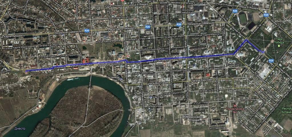 Традиционный маршрут Приднестровской пробежки