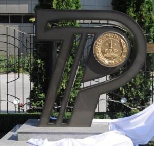 Памятник приднестровскому рублю появился в Тирасполе