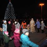 В Тирасполе зажглась новогодняя елка